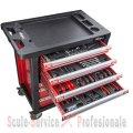 Dulap echipat 7 sertare cu 220 scule (20896) | Dulap metalic 7 - 15 sertare | Dulap, carucior metalic, bancuri