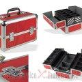 Geanta scule, cosmetice, bijuterii aluminiu multifunctionala (D 20817) | Cutii metalice 3 - 5 sertare | Cutii de scule