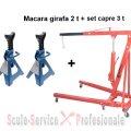 Macara 2 t + set capre 3 t (h400+SH303) | Macara girafa hidraulica 2 t - 3 t | Macara girafa hidraulica 1t , 2t - 3t