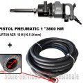 "PISTOL PNEUMATIC 1"" STAHLRHEIN - 3800 Nm + FURTUN AER 20 BAR (16X24 mm) 15M"