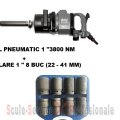 "PISTOL PNEUMATIC 1"" STAHLRHEIN - 3800 Nm + TR. TUBULARE 1"" 8 BUC (22 - 41 MM)"