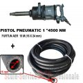 "PISTOL PNEUMATIC 1"" STAHLRHEIN - 4500 Nm +  FURTUN AER 20 BAR (16X24 mm) 15M"