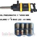 "PISTOL PNEUMATIC 1"" STAHLRHEIN - 4500 Nm + TR. TUBULARE 1"" 8 BUC (22 - 41 MM) | Chei pneumatice, pistoale 1"" si furtune | Pistoale pneumatice 1"""