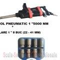 "PISTOL PNEUMATIC 1"" STAHLRHEIN - 5000 Nm + TR. TUBULARE 1"" 8 BUC (22 - 41 MM) | Chei pneumatice, pistoale 1"" si furtune | Pistoale pneumatice 1"""