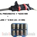 "PISTOL PNEUMATIC 1"" STAHLRHEIN - 6200 Nm + TR. TUBULARE 1"" 8 BUC (22 - 41 MM)"