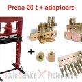 PRESA 20 TONE HIDRAULICA CU CRIC + ADAPTOARE (H600) | Presa 12Tone, 20 Tone cu cric | Prese forta 20 t