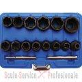 "Tubulare twist, extractor surub  8 - 27 mm - 1/2"" - 16 buc ( 5269) | Truse tubulare de impact 1/2"" | Truse tubulare impact 1/2"""